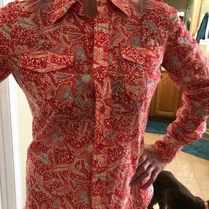 Tory Burch light cotton blouse w/ shoulder detail